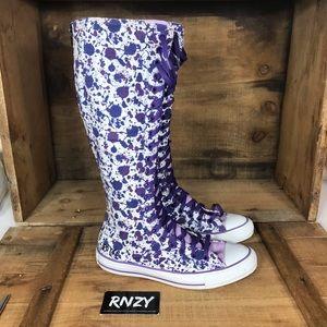 Converse Chuck Taylor Knee High Zip Up Sneaker